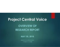 Project Central Voice Findings – IGNITE 2018